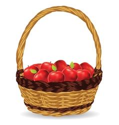 Basket of Red Apples2 vector image