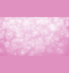 christmas background of snowflakes with bokeh vector image vector image
