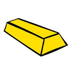 gold bar icon icon cartoon vector image