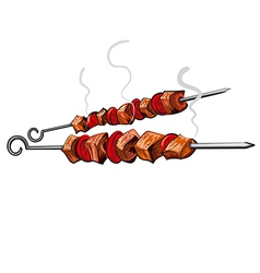 grilled meat vector image vector image