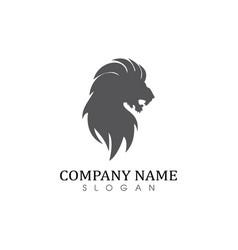 Lion solid logo vector