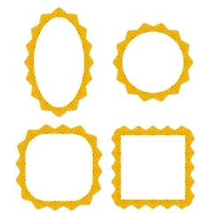 Set of Different Yellow Frames vector image vector image
