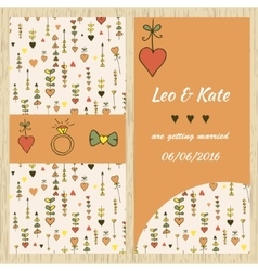 Template for invitation card vector image vector image