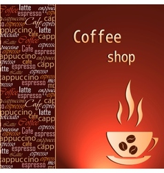 Template of a coffee shop vector image vector image