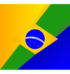 abstract brazilian flag background vector image vector image