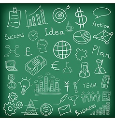 Business and finance hand drawn vector image