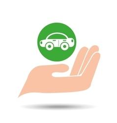 environment friendly concept car vector image vector image