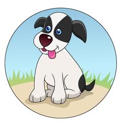 funny dog cartoon vector image