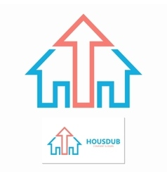 House and up arrow logo template vector image vector image