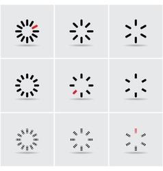 set of progress indicators vector image vector image