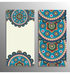 Vertical banner with tribal ornament vector image vector image