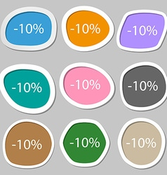 10 percent discount sign icon Sale symbol Special vector image