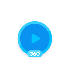 360 degrees video icon for apps and web vector image
