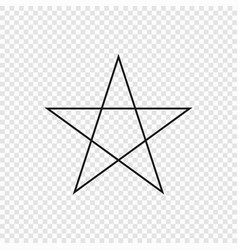 5 point classic star vector image