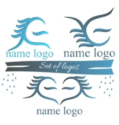A set of logos for web design vector image