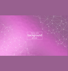 abstract purple polygonal space background with vector image
