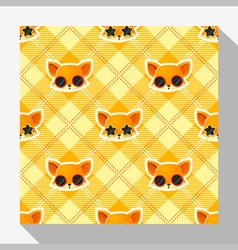 Animal seamless pattern collection with fox 4 vector image