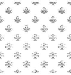 bakery fresh pattern seamless vector image