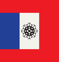 banner on a theme coronavirus with french flag vector image