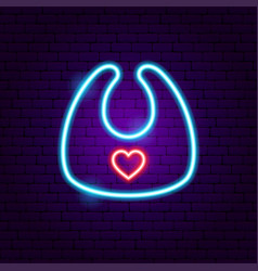 bib neon sign vector image