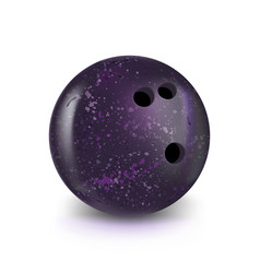 Bowling violet ball isolated on white with vector