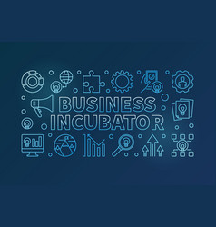 business incubator blue horizontal creative vector image