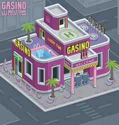 Casino building vector