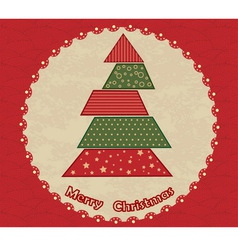 Christmas tree in the circle vector image