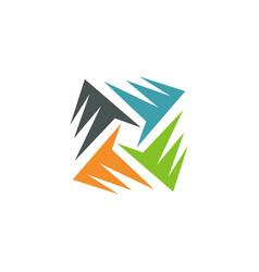 Circle abstract color logo vector