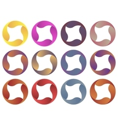 Circles logo set vector image