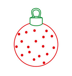color line circle ball decoration to christmas vector image