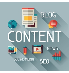 Content concept in flat design style vector image