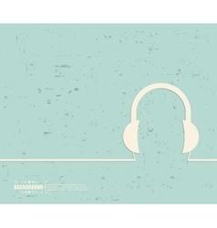 Creative headphone Art vector