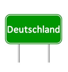 Deutschland road sign vector