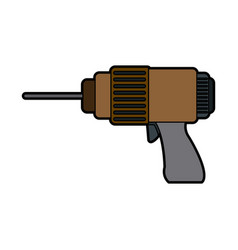 drill tool for construction instrument works vector image