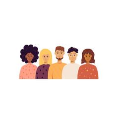 Five trendy people portraits vector