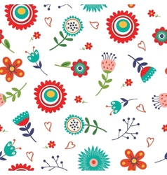 Floral seamless pattern with bright colors vector image