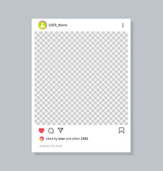 frame for your photo for social network post vector image