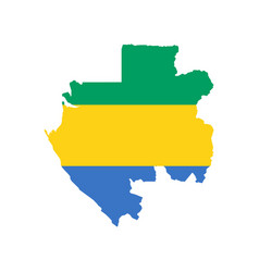 gabon flag and map vector image