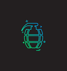 grenade icon design vector image
