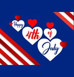 happy 4th july beautiful script font lettering vector image