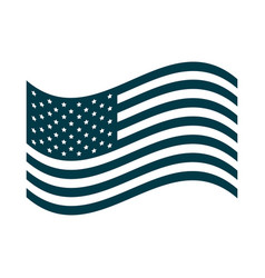 happy independence day waving american flag vector image