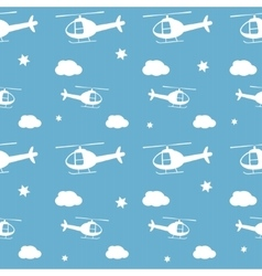 Helicopters seamless pattern vector image