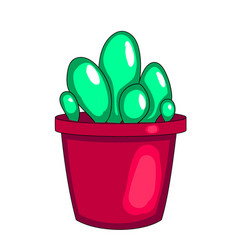 houseplant cactus in a pot white background vector image