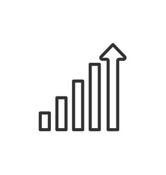 Increase chart graph icon business investment vector