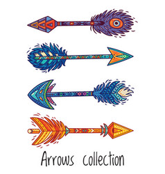Indian ethnic arrows vector