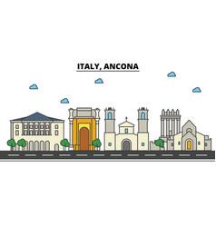 italy ancona city skyline architecture vector image