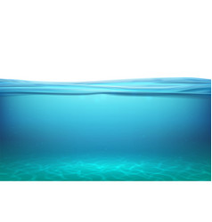 lake underwater surfaces relax blue horizon vector image
