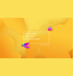 liquid color background design fluid yellow vector image