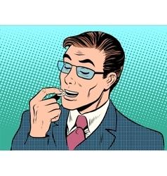 Medicine man health tablet treatment vector